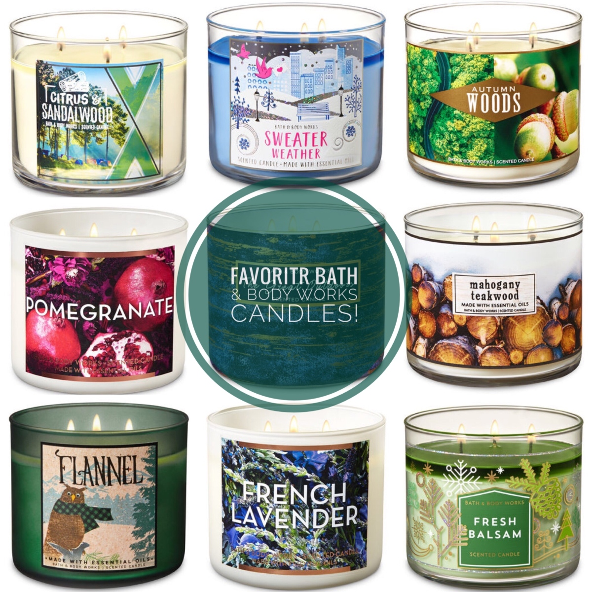 Favorite Bath Body Works Candles What I Think Say